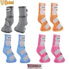 Cashel LEG GUARDS Boots Fly Control Horse Arab Warmblood Blue Pink Orange Gray