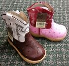 Roper Cowboy Boots Two Different Styles for Infants Ostrich Zipper Brown or Pink