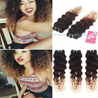 1 bundle Brazilian Ombre Deep Curly Virgin Unprocessed Human Hair Extensions 50g