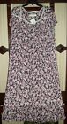 NWT EILEEN WEST 100% MODAL BALLET LENGTH S/SLV GOWN E6515956 BERRY FLORAL 3X