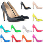 Ladies High Heels Work Pumps Party Court Patent PU Casual Shoes US Size 4-11