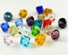 Wholesale Jewelry Finding 100-1000pcs 4mm crystal Bicone Beads U Pick color HOT