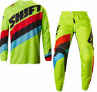 NEW 2017 SHIFT RACING WHITE LABEL TARMAC GEAR COMBO DIRTBIKE FLO YELLOW ALL SIZE