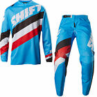 NEW 2017 SHIFT RACING WHITE LABEL TARMAC GEAR COMBO DIRT BIKE BLUE ALL SIZES