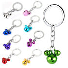 Metal Mouse Shape Pendant Ring Bell Chain Keyring Bag Decor