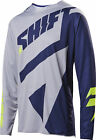 Shift Racing Grey/Blue Black Label Mainline Dirt Bike Jersey MX ATV BMX MTB