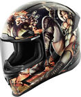 Icon Black/White Adult Airframe Pro Pleasuredome 2 Motorcycle Helmet