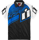 Icon Blue/Black/White Mens Hypersport  Motorcycle Shop Shirt
