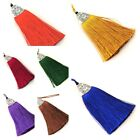 3 inch Long Imitation Silk Tassel with Cap 1 pc, Pick your colors