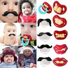 Orthodontic Baby Infant Newborn Funny Mustache Pacifier Binky Pacifiers Dummy yo