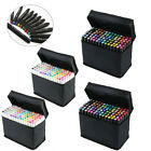 168 Color Twin Tip Marker Pen Broad Touch Five Graphic Markers Alcohol Sketch