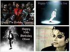 MICHAEL JACKSON EDIBLE CAKE or CUPCAKE TOPPERS Icing or Wafer IN MANY SIZES!!