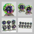 5mm Matched Lot 1,2,6,10pcs Round Cut Natural MYSTIC GREEN TOPAZ