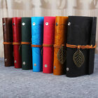 Vintage Notebook Diary String Leaf Travel Leather Paper Journal Book Sketchbook