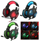 KOTION EACH G1000 Gaming Headset LED USB + 3.5mm Stereo Bass Headphones with Mic