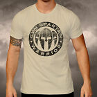 Gym Spartan Logo Sand T Shirt Fitness Muscle Boxing MMA Martial Arts Military