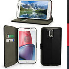 PU Leather Skin Wallet Case for Motorola Moto G4 (4th Gen) & G4 Plus Flip Cover