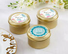 48 Boho Chic Personalized Gold Candy Tin Wedding Party Favor Supply