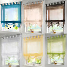 1Sheer Tab Top Kitchen Balcony Study Voile Roman Blinds Liftable Curtain Draps