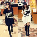 Women Letter Hoodie Hooded Coat Long Sleeve Pullover Jumper Sweat Shirt Tops