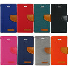 8 Colors New high quality Canvas Diary Wallet case for LG Various