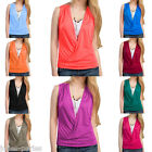 JP 10 Colors Summer Sexy Women Sleeveless V Neck Vest T-Shirt Tops Blouse Plus