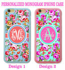 PINK SHABBY CHIC Crop ROSE CUSTOM MONOGRAM CASE FOR IPHONE 6 6S PLUS SE 5S 5C