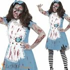 Girls Teen Zombie Tea Party Dorothy Costume Child Halloween Fancy Dress Outfit