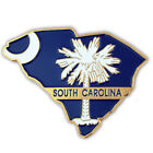 PinMart's State Shape of South Carolina  and SC Flag Lapel Pin