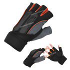 Mens Weight Lifting Gym Sport Fitness Workout body Training Exercise Half Glove