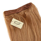 Full Set Thick Remy 100% Human Hair Invisible Wire Handband  Hair Extension 16""