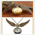 Pendant Necklace Steampunk Quidditch Wings Harry Potter Snitch Pocket Watch A