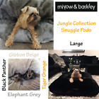 Large Snuggle Pod Dog Bed, Cat Bed Jungle Collection 4 Designs to Choose From