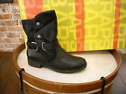 Bare Traps Select Black Leather Snap Moto Ankle Boots NEW