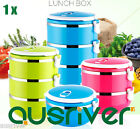 3 Layers Stainless Steel Portable Lightweight Food Container Lunch Box Microwave