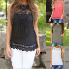 Lovely Women Summer Lace Vest Top Sleeveless Casual Tank Blouse Tops T-Shirt OZ