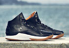 UNDER ARMOUR CURRY ONE 1 LUX MID LEATHER BLACK GUM 600 PAIRS 9 10 13
