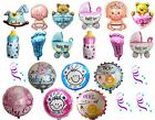 ITS A BOY GIRL FOIL HELIUM BALLOONS CELEBRATION NEW BABY SHOWER PARTY