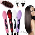 LCD Auto Hair Comb Massager Brush Electric Iron Hair Straightener Hair Tools New