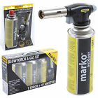 Blow Torch Butane Gas Kit Cooking Catering Creme Brulee Culinary Tarts Pies Tool