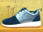 Nike Wmns Roshe One PRM Suede Navy Metallic Silver Casual Shoes Women 820228-400