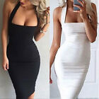 Sexy Women Summer Bodycon Evening Cocktail Party Sleeveless Pencil Midi Dress AS