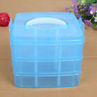 Clear Plastic Jewelry Bead Storage Box Container Organizer Case Craft Tool RI