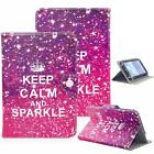 """Keep Calm And Sparkle Universal PU Folio Leather Box Case W/Stand For Tablet 7"""""""