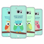HEAD CASE DESIGNS MEAN OWLS SOFT GEL CASE FOR HTC 10