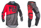 NEW 2017 FLY RACING F-16 GEAR COMBO RED/BLACK/GREY ALL SIZES