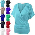 Fashion Womens Lace-Merging V Neck Multi Color Short Sleeve casual T-shirt