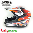GSB XP14 MOTOCROSS BLACK WHITE RED HELMET OFFROAD ENDURO ECE ADD GOGGLE DOUBLED