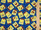 FAT QUARTER SPONGE BOB SQUARE PANTS PACKED 100% COTTON FABRIC SPRINGS CREATIVE