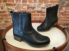 Clarks Riddle Muse Black Leather Ankle Boot NEW